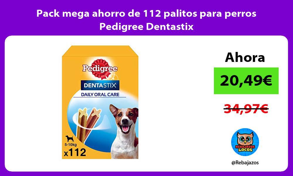 Pack mega ahorro de 112 palitos para perros Pedigree Dentastix