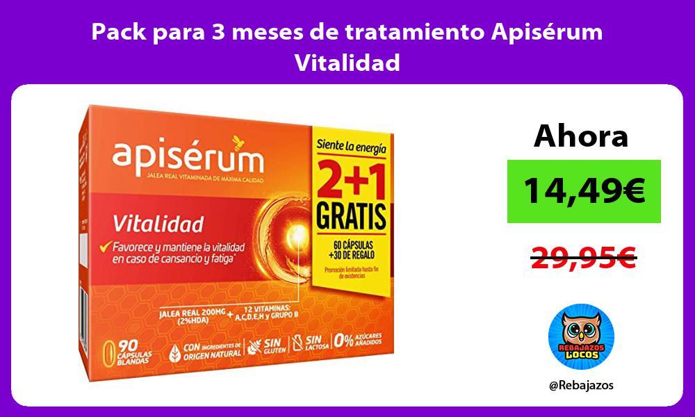 Pack para 3 meses de tratamiento Apiserum Vitalidad