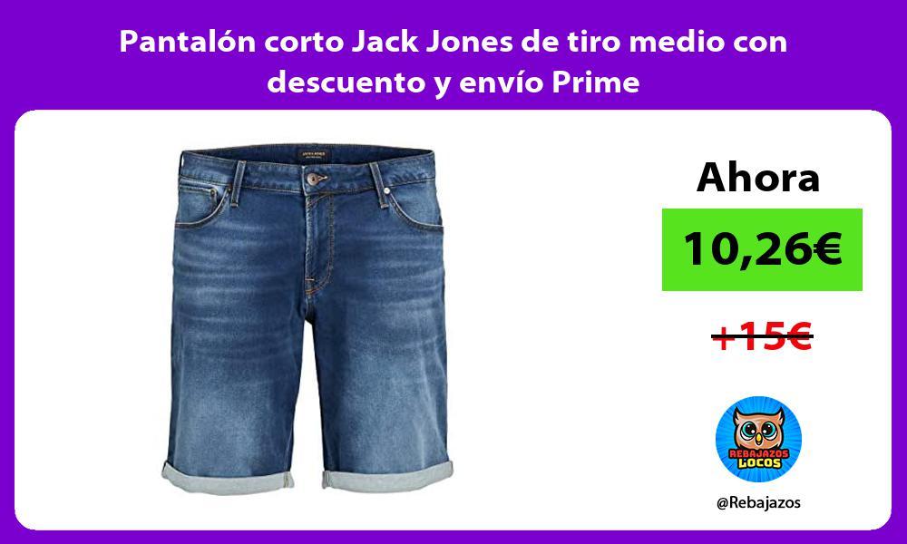 Pantalon corto Jack Jones de tiro medio con descuento y envio Prime