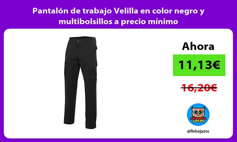 Pantalon de trabajo Velilla en color negro y multibolsillos a precio minimo