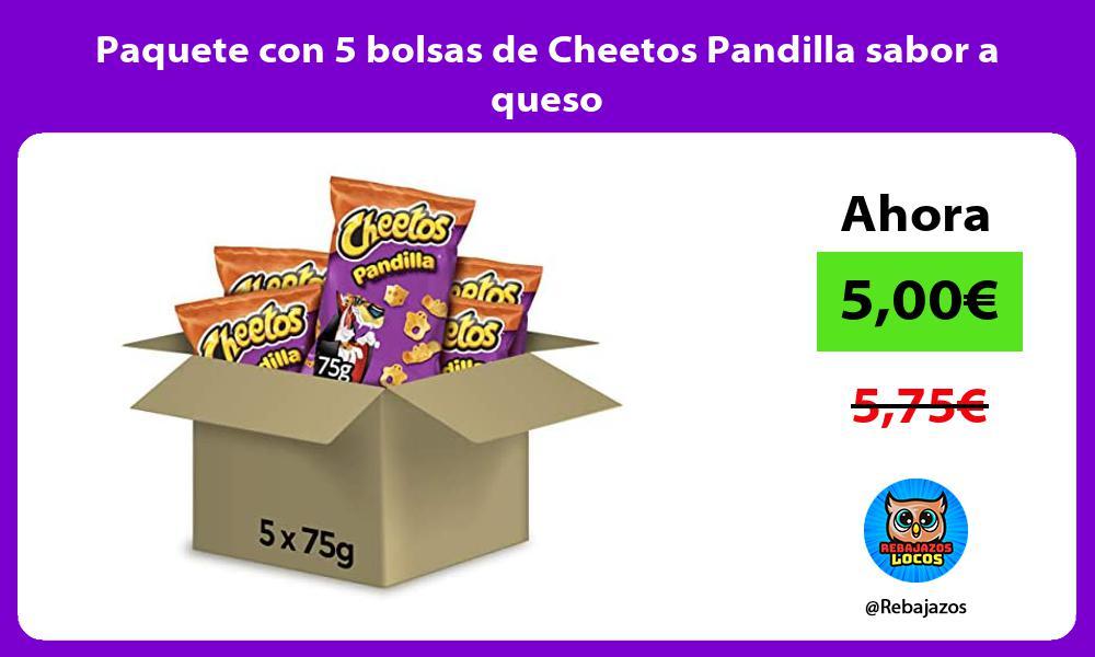 Paquete con 5 bolsas de Cheetos Pandilla sabor a queso