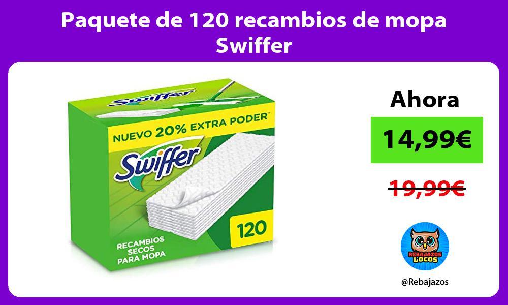 Paquete de 120 recambios de mopa Swiffer