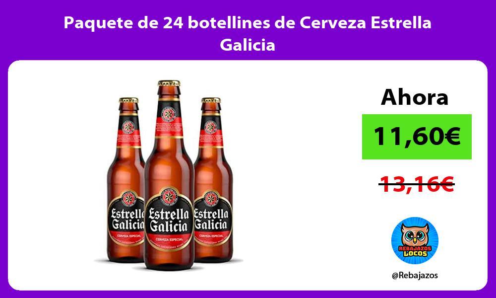 Paquete de 24 botellines de Cerveza Estrella Galicia