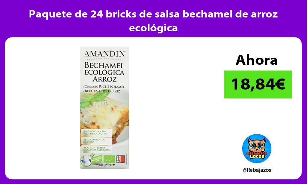 Paquete de 24 bricks de salsa bechamel de arroz ecologica