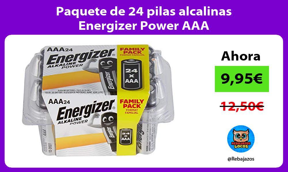 Paquete de 24 pilas alcalinas Energizer Power AAA