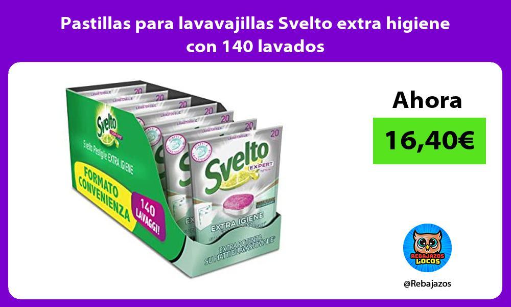 Pastillas para lavavajillas Svelto extra higiene con 140 lavados