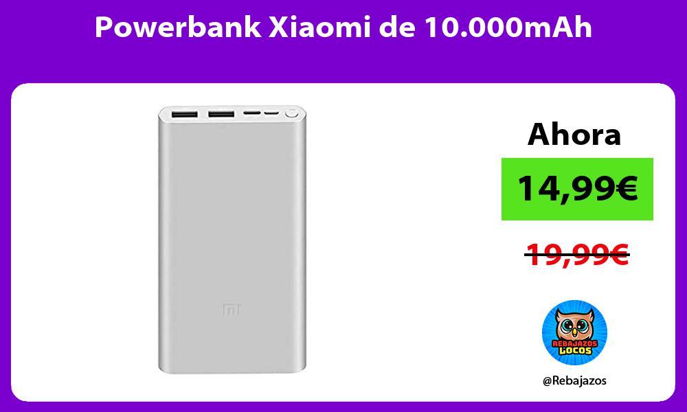 Powerbank Xiaomi de 10 000mAh