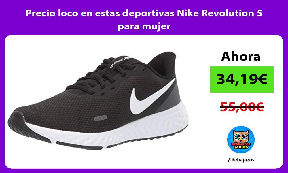 Precio loco en estas deportivas Nike Revolution 5 para mujer