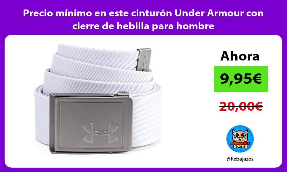 Precio minimo en este cinturon Under Armour con cierre de hebilla para hombre