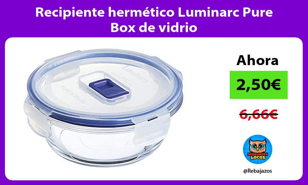 Recipiente hermetico Luminarc Pure Box de vidrio