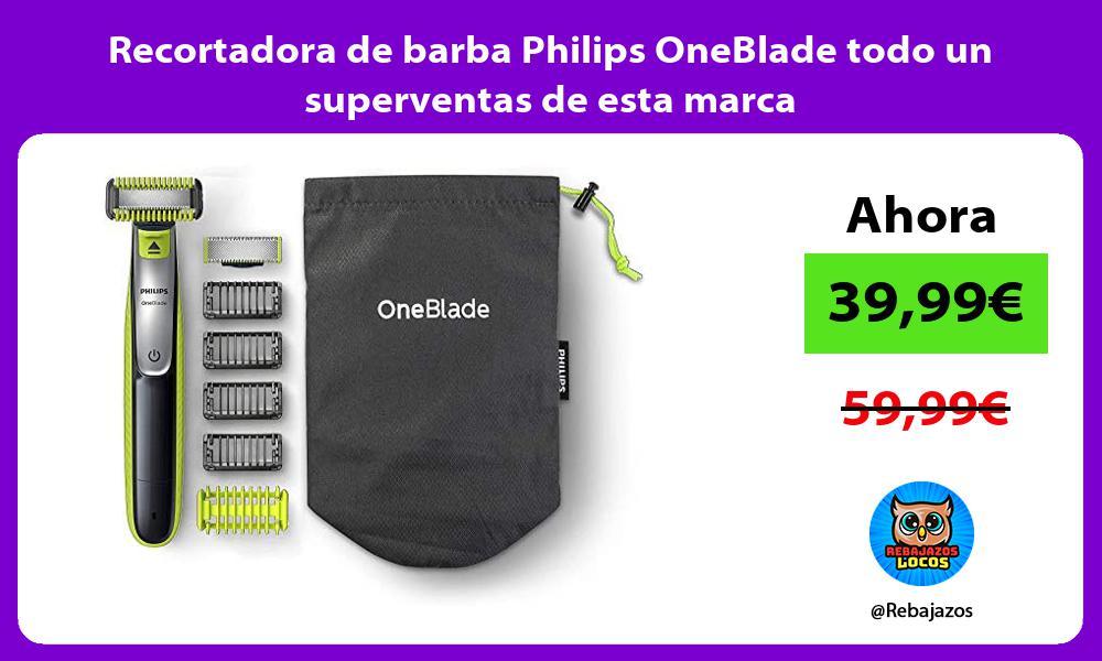 Recortadora de barba Philips OneBlade todo un superventas de esta marca