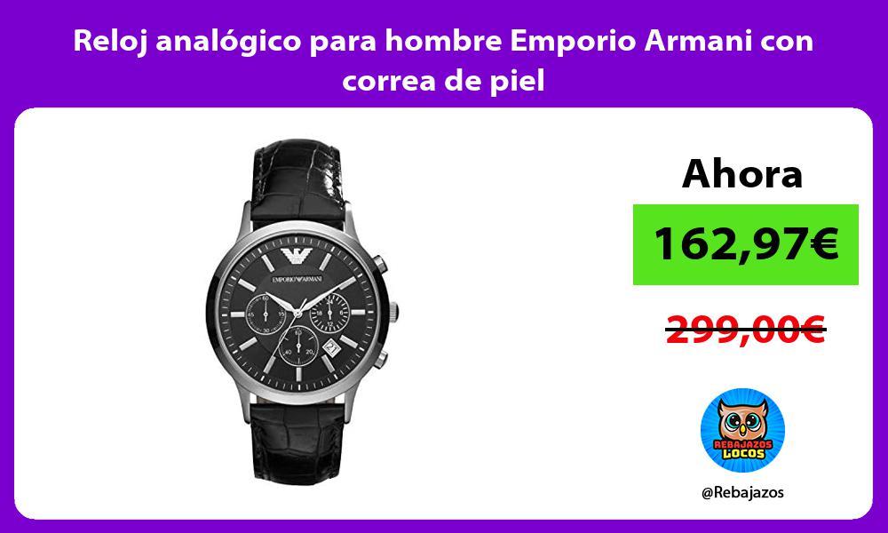 Reloj analogico para hombre Emporio Armani con correa de piel