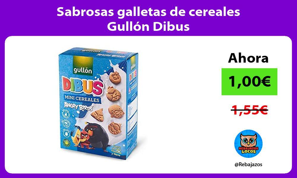 Sabrosas galletas de cereales Gullon Dibus