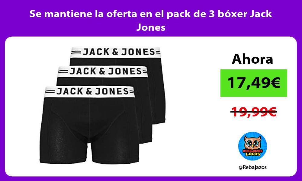 Se mantiene la oferta en el pack de 3 boxer Jack Jones