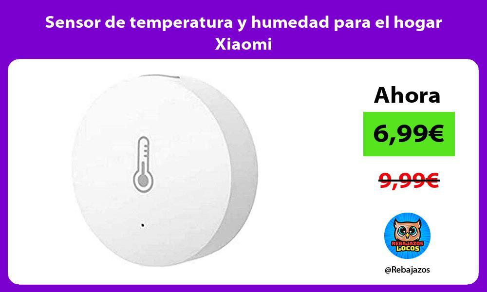 Sensor de temperatura y humedad para el hogar Xiaomi