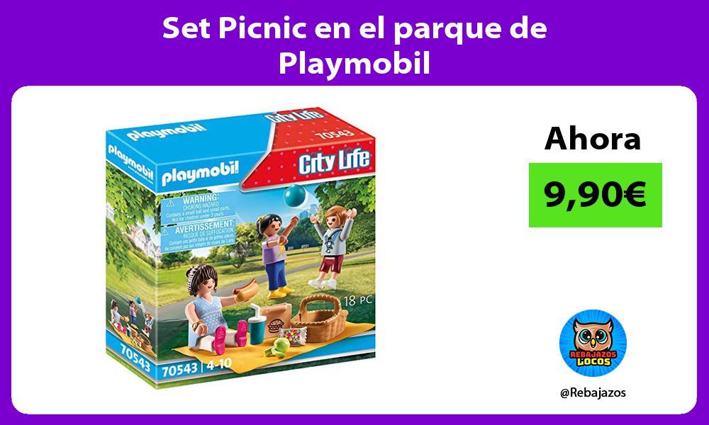Set Picnic en el parque de Playmobil