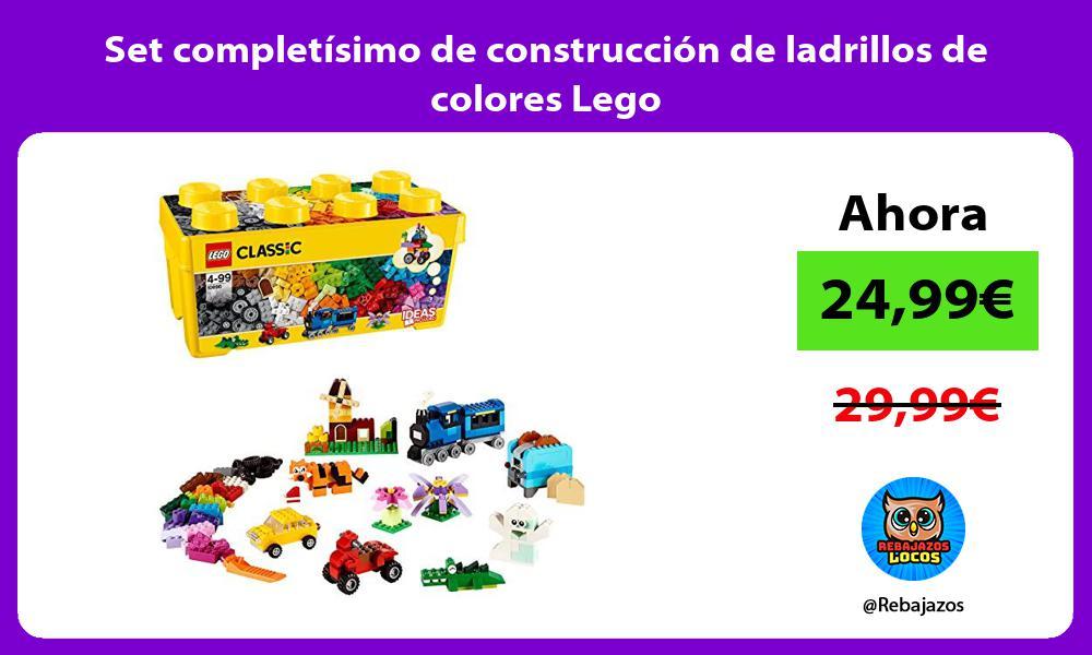 Set completisimo de construccion de ladrillos de colores Lego