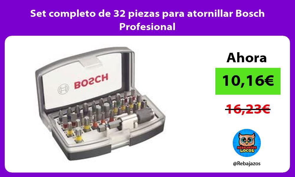 Set completo de 32 piezas para atornillar Bosch Profesional