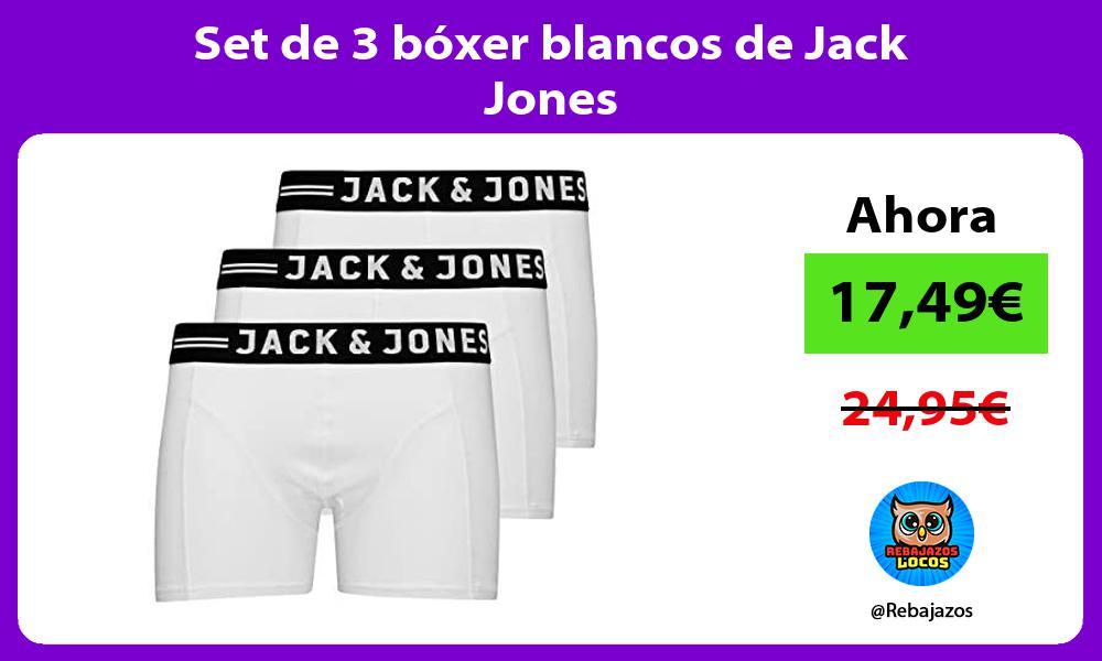 Set de 3 boxer blancos de Jack Jones