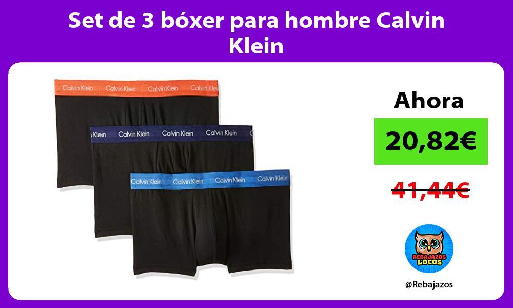Set de 3 boxer para hombre Calvin Klein