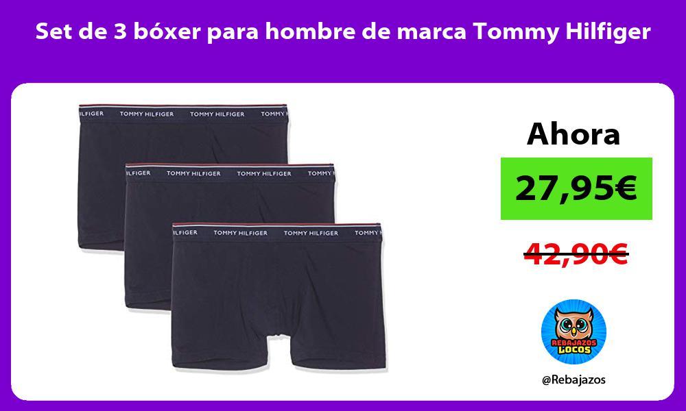 Set de 3 boxer para hombre de marca Tommy Hilfiger