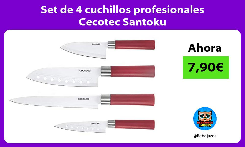Set de 4 cuchillos profesionales Cecotec Santoku