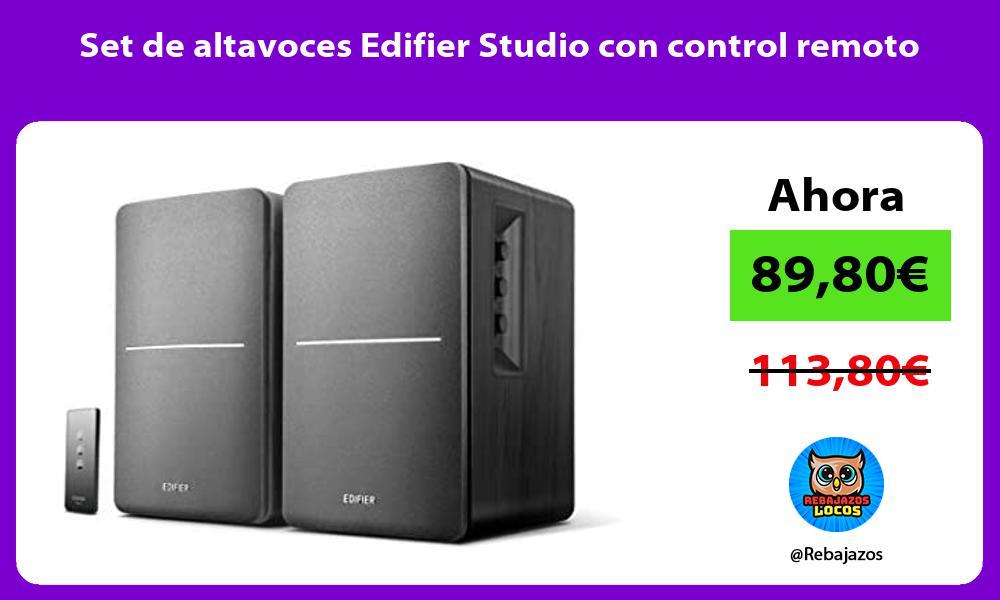 Set de altavoces Edifier Studio con control remoto