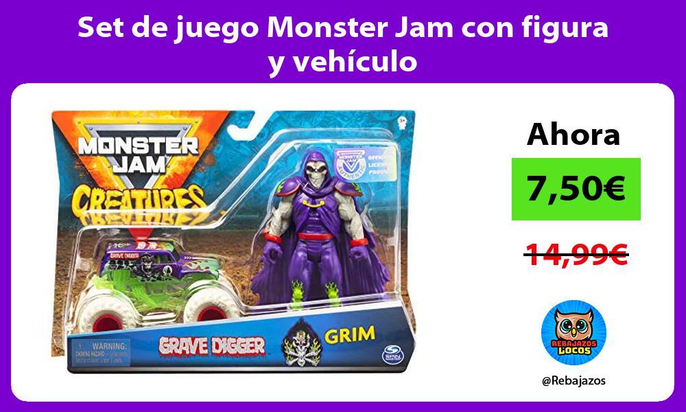 Set de juego Monster Jam con figura y vehiculo