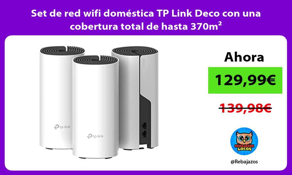 Set de red wifi domestica TP Link Deco con una cobertura total de hasta 370m²