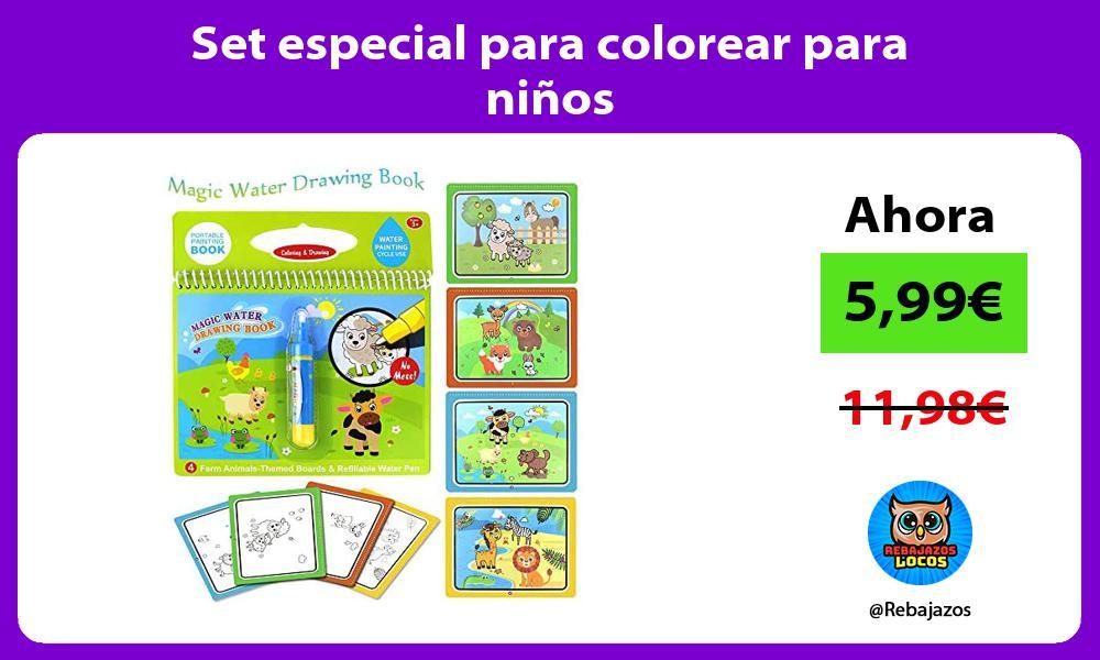 Set especial para colorear para ninos