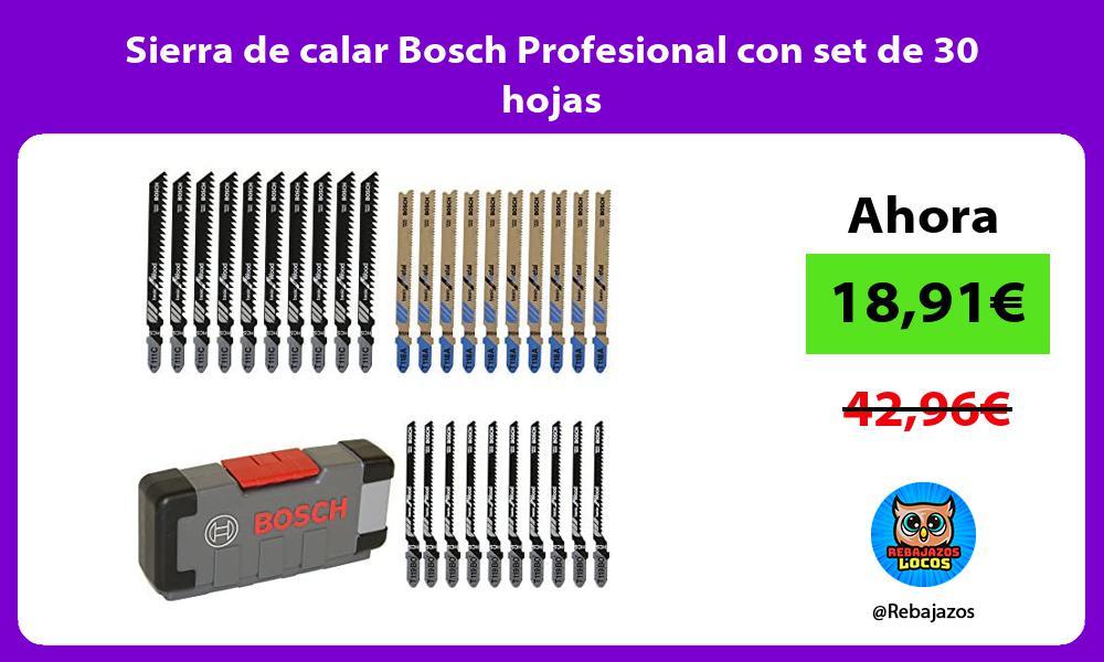 Sierra de calar Bosch Profesional con set de 30 hojas