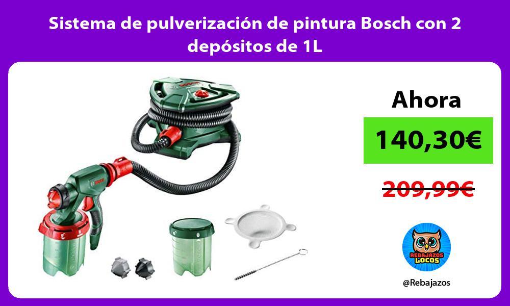 Sistema de pulverizacion de pintura Bosch con 2 depositos de 1L