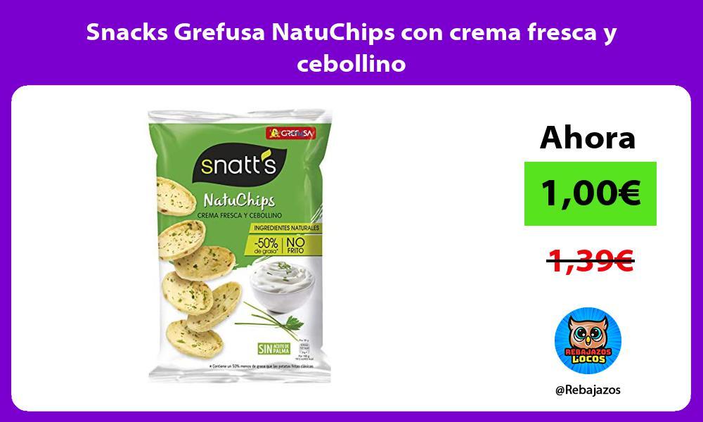 Snacks Grefusa NatuChips con crema fresca y cebollino