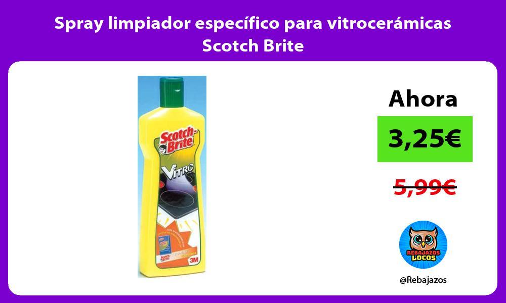 Spray limpiador especifico para vitroceramicas Scotch Brite