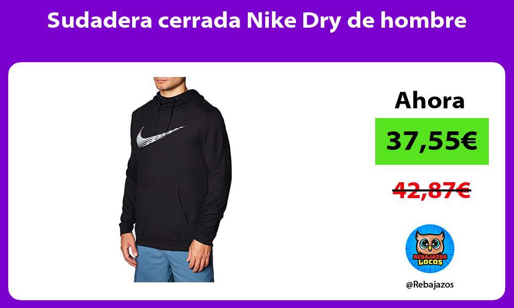 Sudadera cerrada Nike Dry de hombre