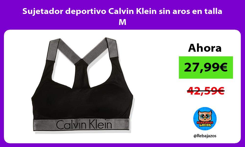 Sujetador deportivo Calvin Klein sin aros en talla M