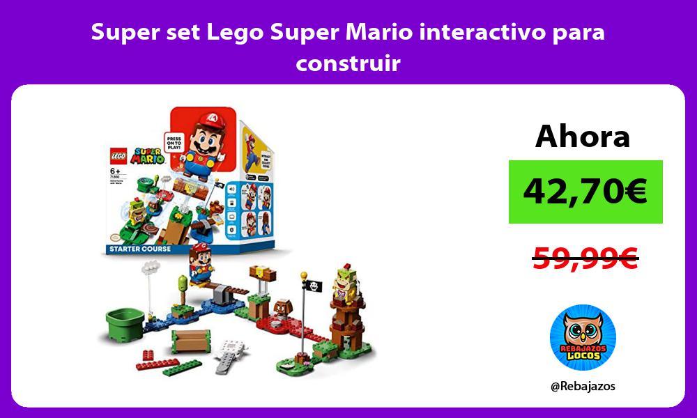Super set Lego Super Mario interactivo para construir