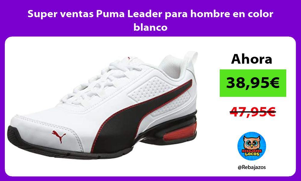 Super ventas Puma Leader para hombre en color blanco