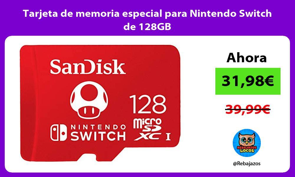 Tarjeta de memoria especial para Nintendo Switch de 128GB