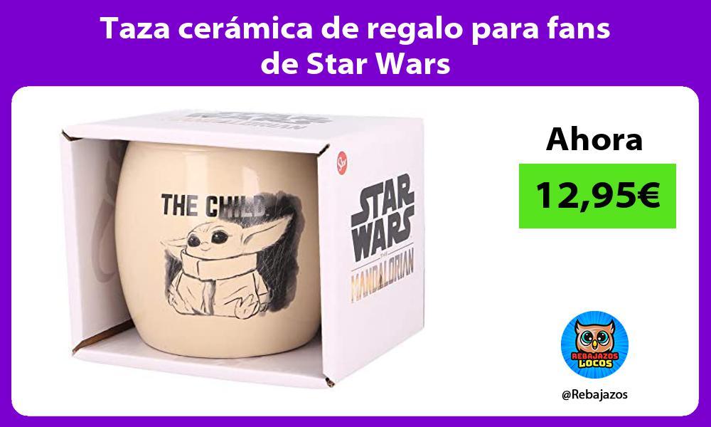 Taza ceramica de regalo para fans de Star Wars