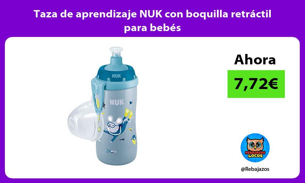 Taza de aprendizaje NUK con boquilla retractil para bebes