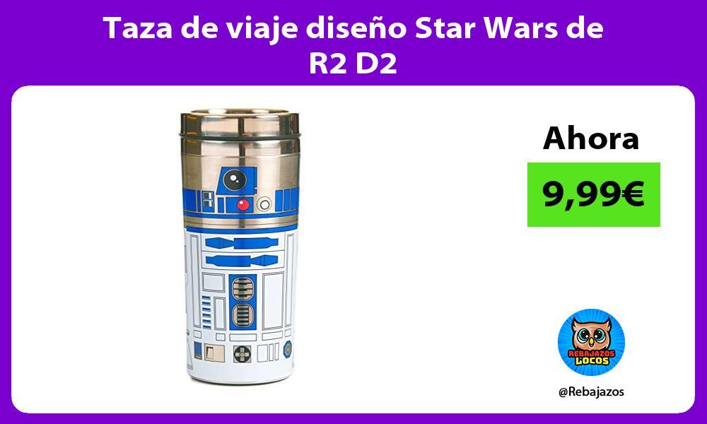 Taza de viaje diseno Star Wars de R2 D2