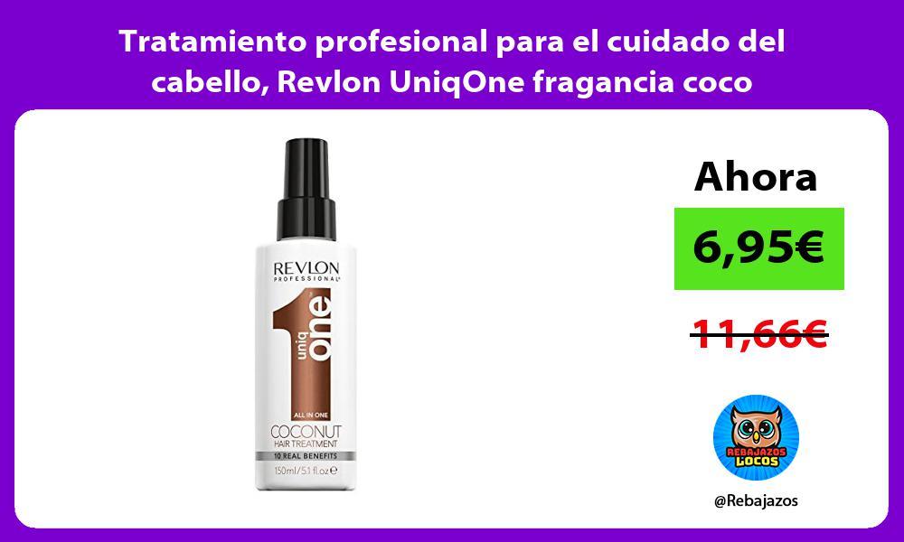 Tratamiento profesional para el cuidado del cabello Revlon UniqOne fragancia coco