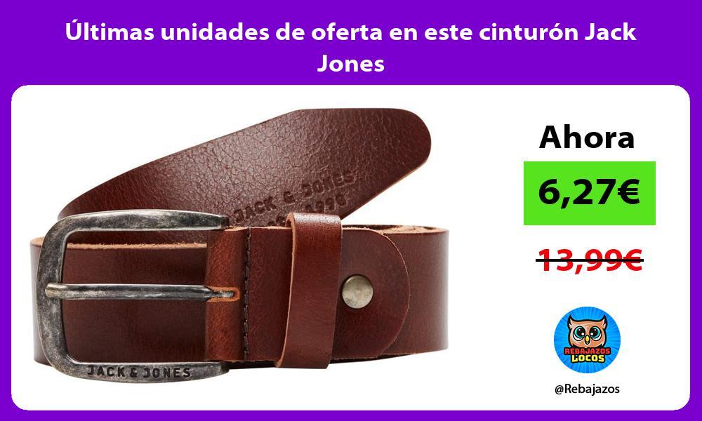 Ultimas unidades de oferta en este cinturon Jack Jones