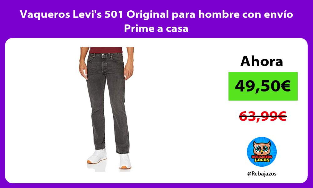 Vaqueros Levis 501 Original para hombre con envio Prime a casa