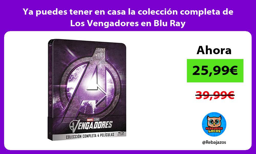 Ya puedes tener en casa la coleccion completa de Los Vengadores en Blu Ray