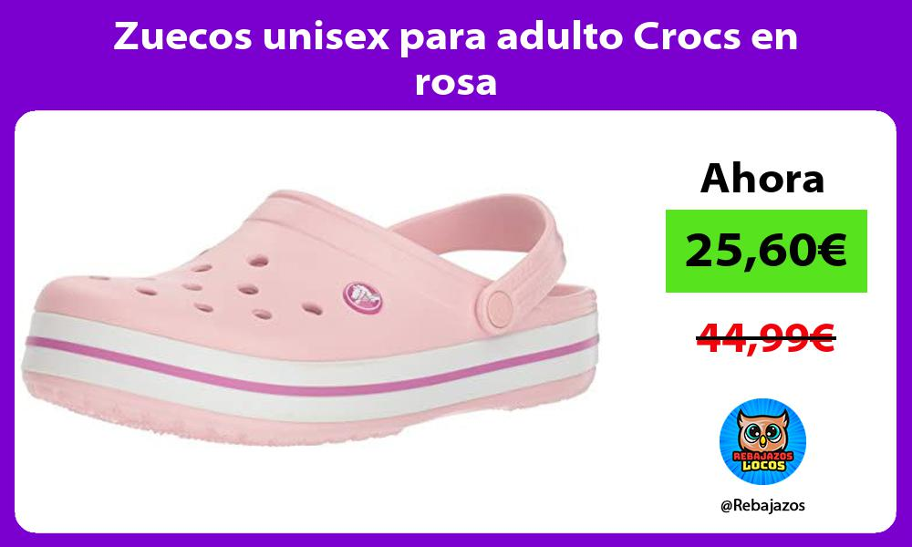 Zuecos unisex para adulto Crocs en rosa