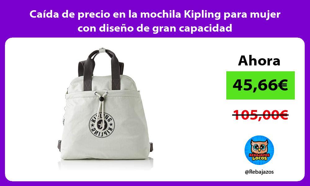 Caida de precio en la mochila Kipling para mujer con diseno de gran capacidad