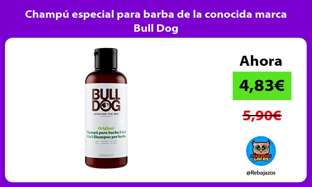 Champu especial para barba de la conocida marca Bull Dog