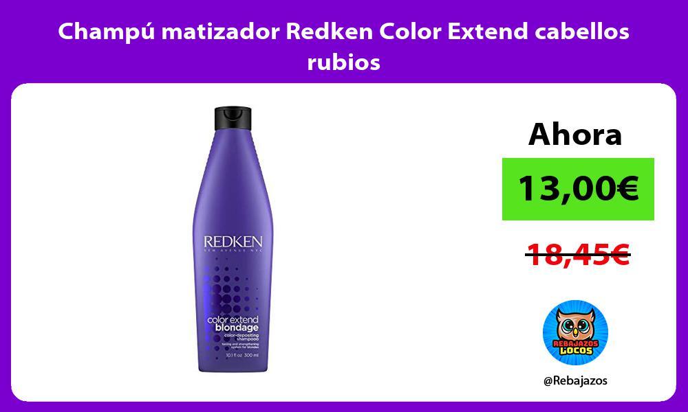 Champu matizador Redken Color Extend cabellos rubios